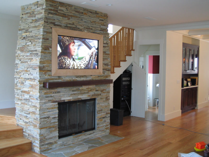 Recessed Tv Over Fireplace Fireplace Ideas